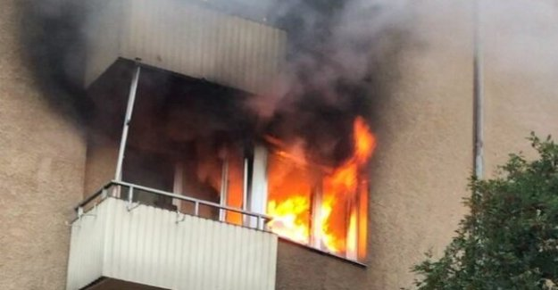 A fire in an apartment in Lilla Essingen