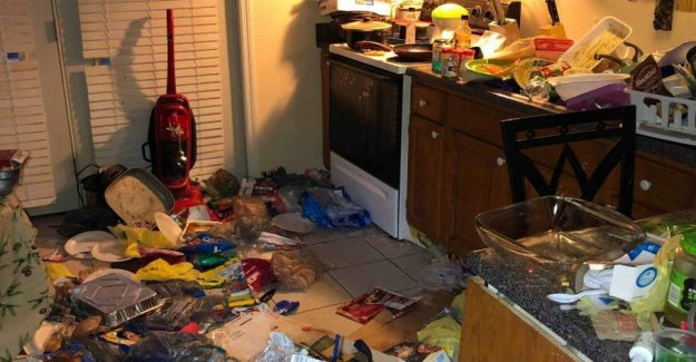 Charged with child abuse: Four small children lived in garbage and old food