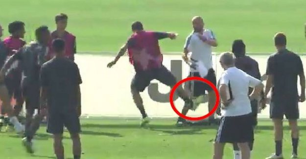 Going crazy in a rage-attacks: Kicking his own coach