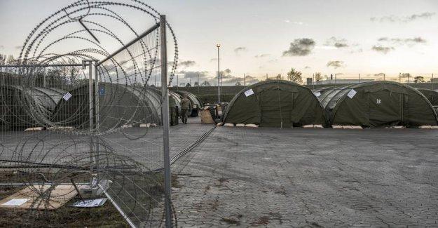 Left: Tom camp has kept the refugees away