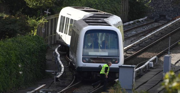 Subway trains derailed in Copenhagen: Trains set