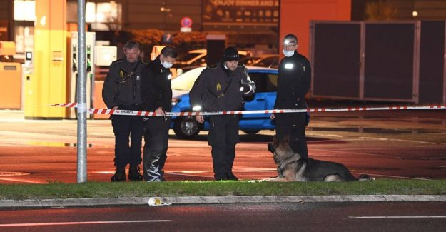 The masked man shot at people in cars