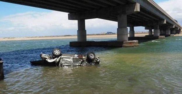 Car fell in river from the 23-metre-high bridge: Three dead and two wounded