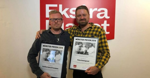 Feted for klikboost: Ekstra Bladet-journalists win award
