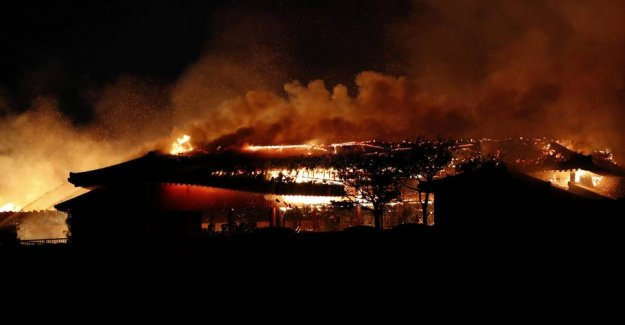 World heritage site burned to the ground