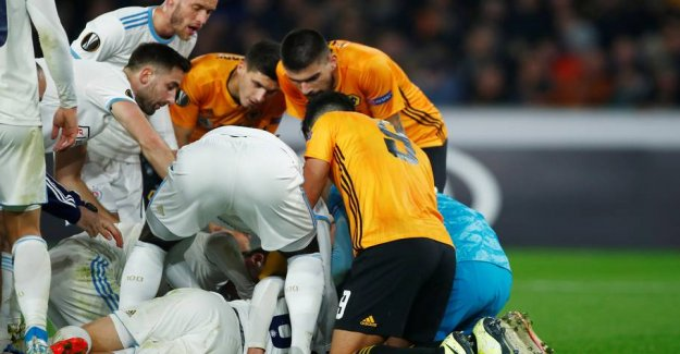 Kicked unconscious: a Cruel injury in the Europa League