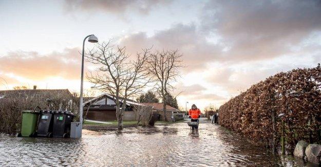 See oversvømmelseskortet: Here, it is bad for