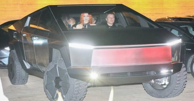 Elon Musk at the celebrity bar in the crazy monster truck