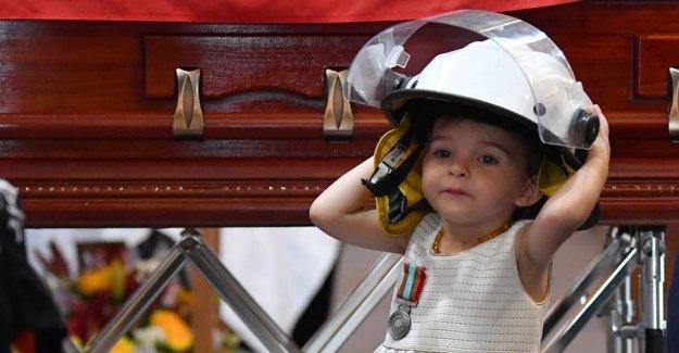 Heartbreaking: Killed brandmands daughter, wearing dad's helmet