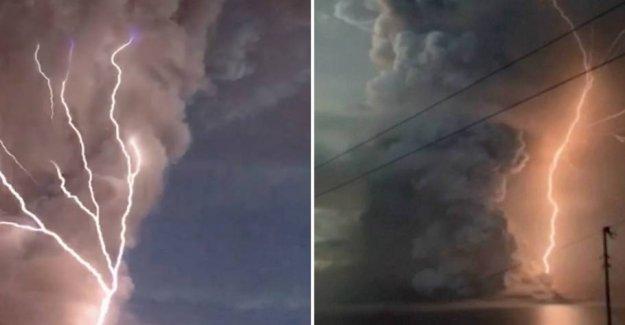 Rare phenomenon at the dangerous volcano