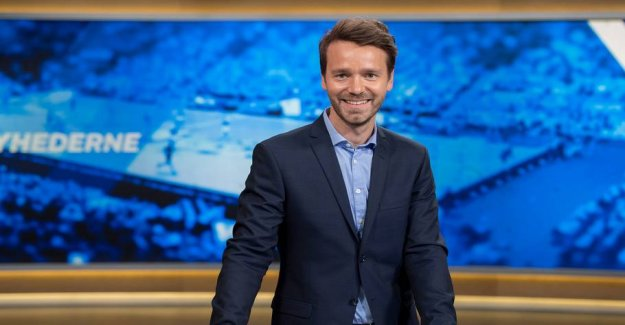 The TV2 host change the channel