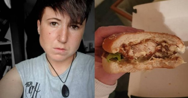 Vegan tears: Ate the burger with the chicken from KFC