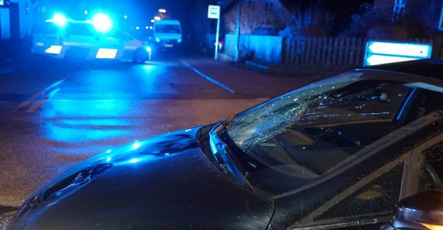 Elderly woman in critical condition after collision