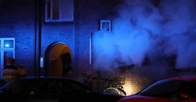 Fire in block of flats: Residents evacuated