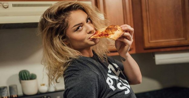 Pizza-the girl was on the cover of Playboy