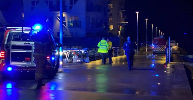 Police in action at the Port of Aarhus