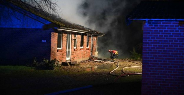 The Villa is burned to the ground