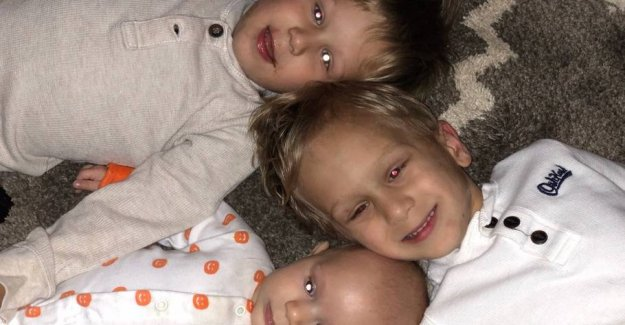 Three little brothers fighting against the same cancer type