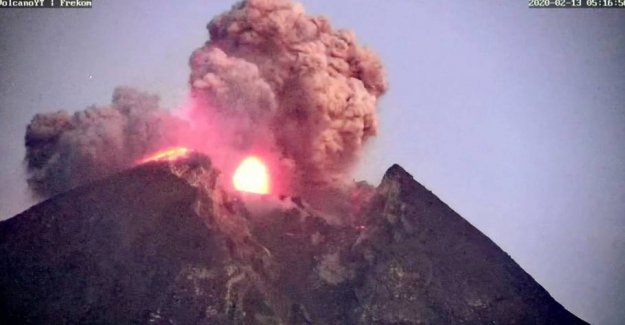 Volcano in eruption: the Fifth time in six months