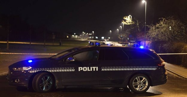 A man is hit in the hand after the shootings in Denmark
