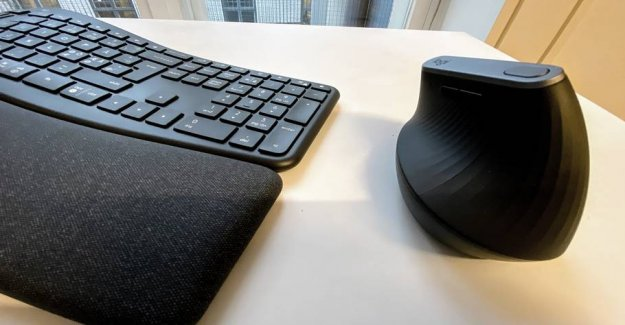 Crooked keyboard makes everyday life healthier