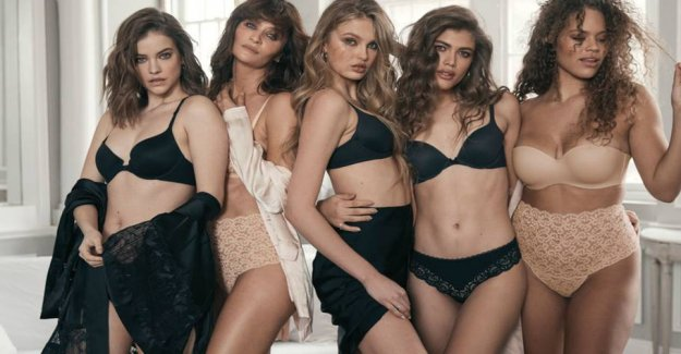 Helena Christensen in sexy lingerie from Victoria's Secret
