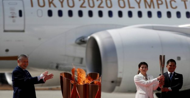 The olympic flame lands in Japan ahead of the OLYMPICS in Tokyo