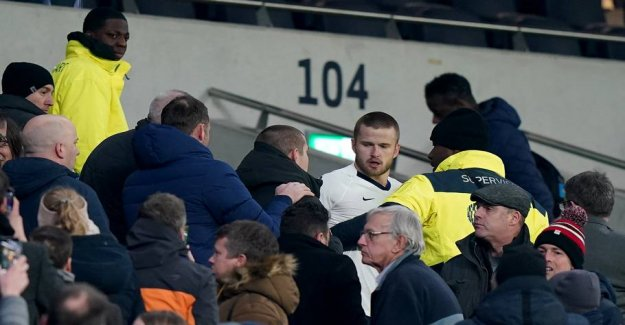 Trouble after the downturn: Tottenham-player in a scuffle with spectator