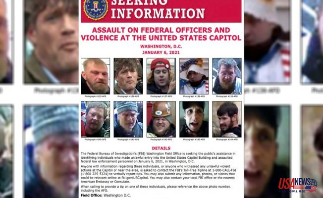 FBI releases Fresh Desired poster of Guessed Capitol rioters