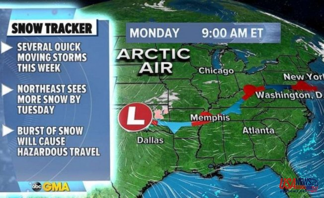 Arctic air Secured in over Midwest as Many snow storms Go out of Midwest to the East