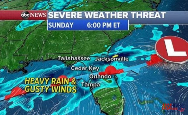 Intense storms in Florida as Warmer weather returns for East Coast