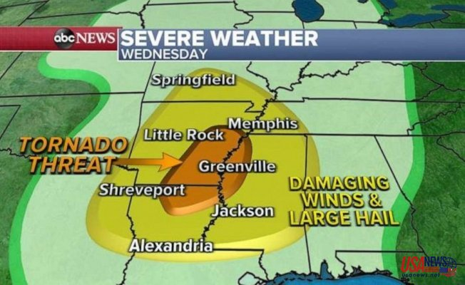 Severe weather to Strike South with Increased tornado threat