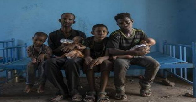 Abraha and her children. Story of a family fleeing Tigray