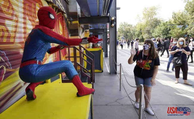 After pandemic pause, Avengers swing, soar into Disneyland