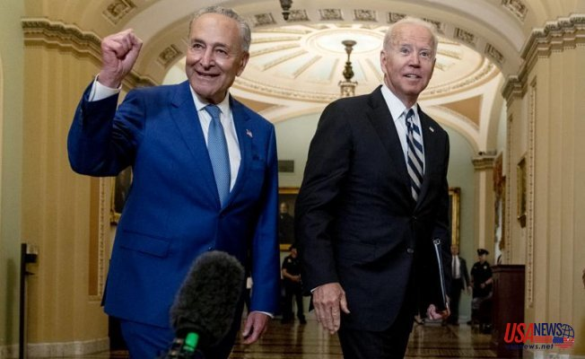Biden meets Dems at Capitol in order to strengthen support for spending