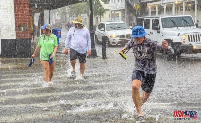 Elsa becomes a tropical storm after it aims at Florida