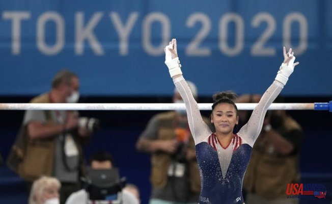 Sunisa Lee wins the final of women's gymnastics