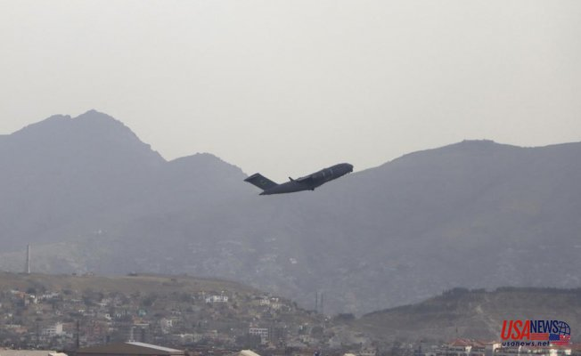 In the final hours of US withdrawal, rockets were fired on Kabul's airport