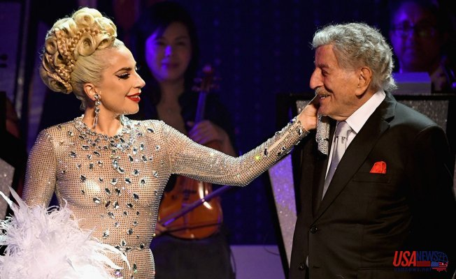 """Tony Bennett and Lady Gaga release the jazz duet """"I Get A Kick Out Of You"""" on Tony's 95th Birthday"""