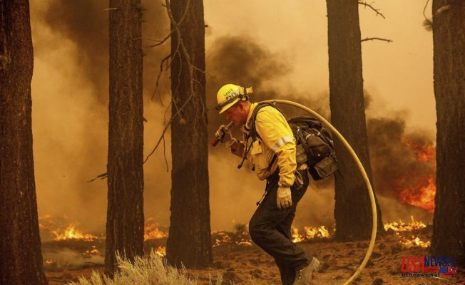 California wildfires are moving closer to Lake Tahoe due to strong winds