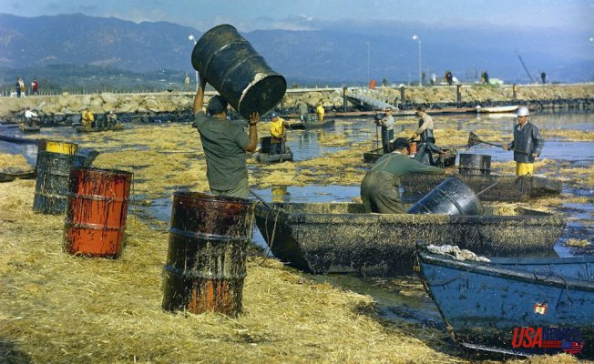 California's oil spillage occurred 52 years after the historic oil disaster