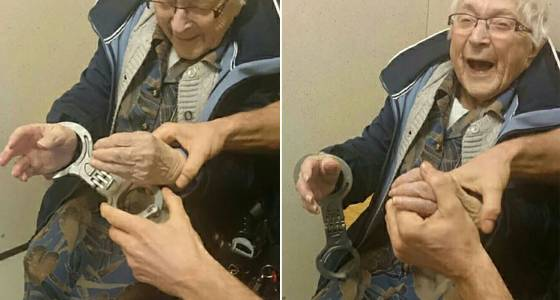 99-year-old granny gets 'arrested' to fulfill bucket list