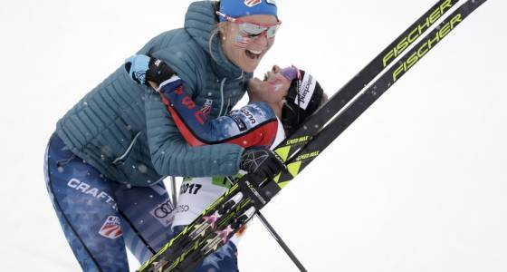 Afton's Jessie Diggins has historic finish in classic team sprint