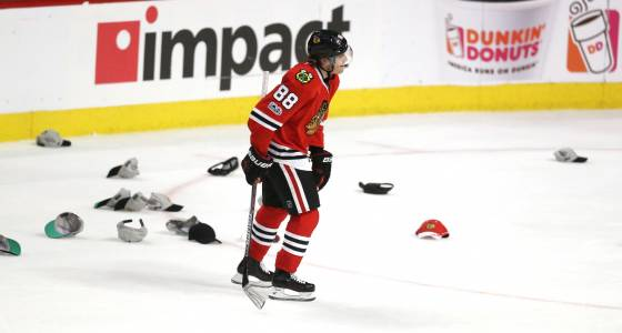 Another hat trick for Patrick Kane in Blackhawks victory over Penguins