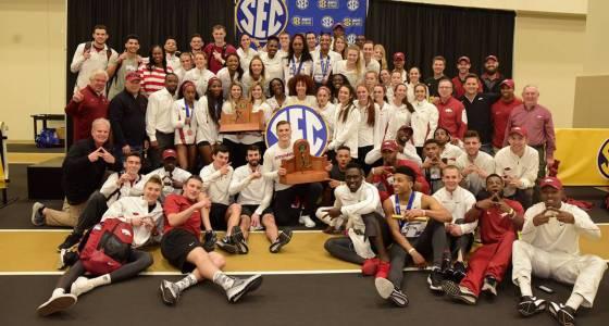 Arkansas sweeps men's, women's SEC indoor titles