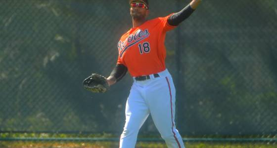 At age 34, outfielder Chris Dickerson opening some eyes in Orioles camp