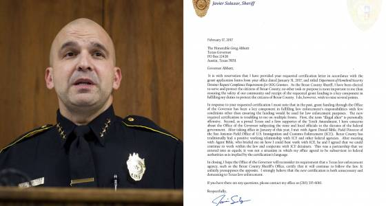 Bexar Sheriff Salazar to Gov. Abbott: immigration requirements for jails 'troubling'