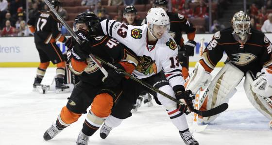 Blackhawks earn a few scars in 4-0 loss to Ducks