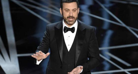Candy falls from the sky at the 2017 Oscars