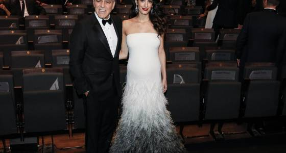 Clooney uses Cesar award to warn about hate in age of Trump